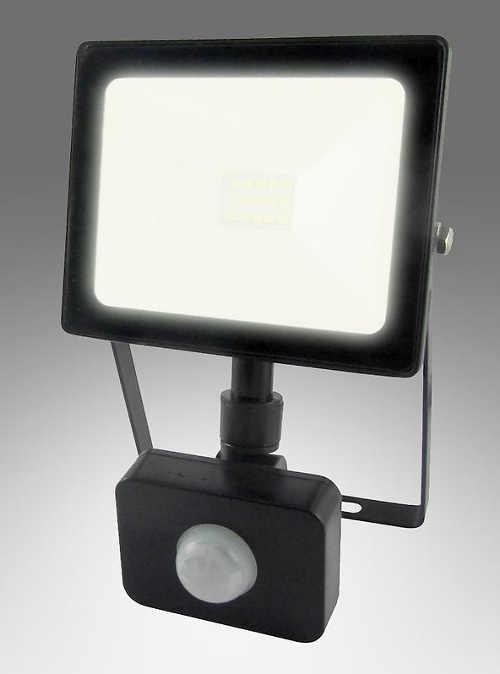 30 W vonkajší LED reflektor so senzorom pohybu