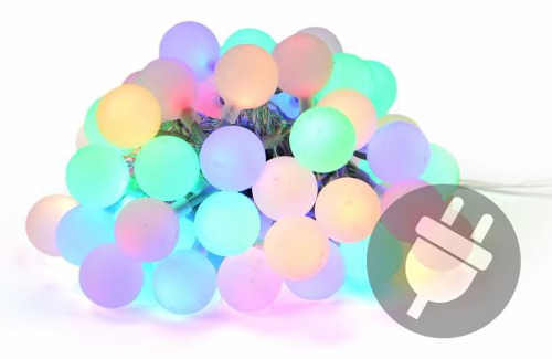 Farebná svetelná reťaz LED 50 maxi diód