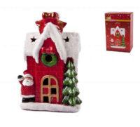 Keramický vianočný domček s LED svetlom