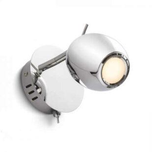 Nástenné chrómové LED svietidlo RENDL MOKO