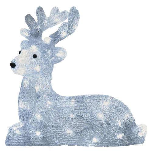 Led vianočné osvetlené dekorácie jeleň