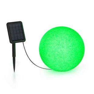 Solárna guľová lampa v modernom dizajne
