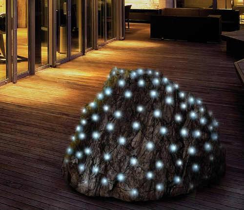 Vianočná LED svetelná sieť pre záhradné kríky