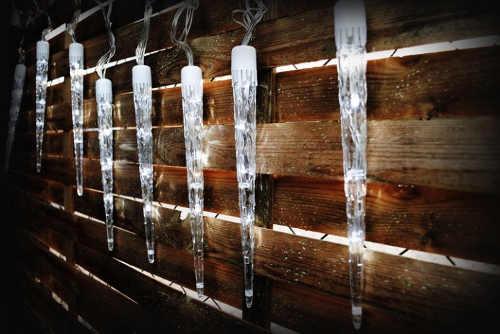 Vianočné svetlá Osvetlené 30 cm sople