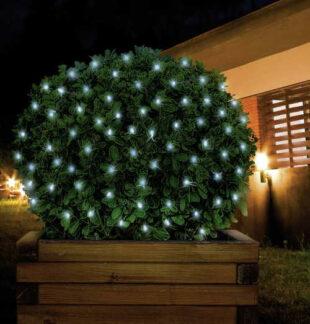 Vonkajšia LED sieť na dekoráciu kríkov