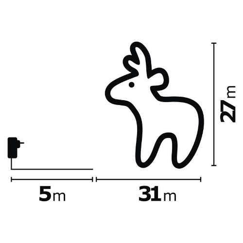 Vonkajšie LED osvetlené jelene