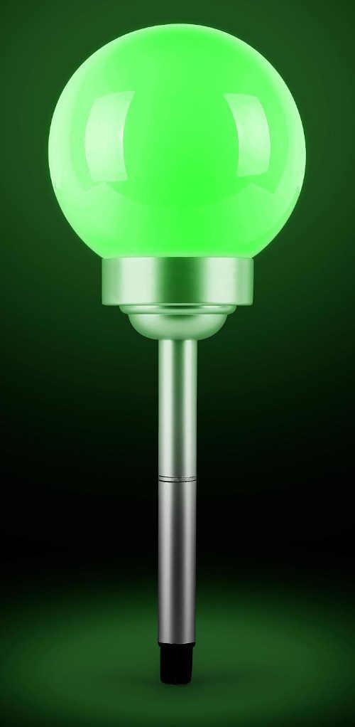 Zelené solárne záhradné osvetlenie LED