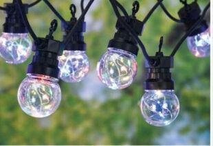 Vonkajšia LED reťaz v modernom dizajne